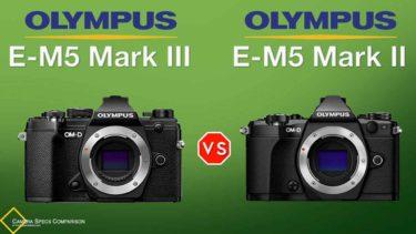 Olympus OM-D E-M5 Mark III vs Olympus OM-D E-M5 Mark II